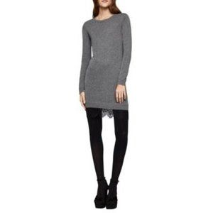 BCBGeneration Lace Trim Casual Sweater Dress